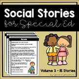 Social Stories 3! {15 Social Stories for Students with Special Needs}