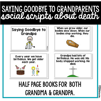 Social Story: Saying Goodbye to Grandparents, Death
