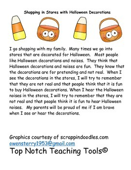Social Stories For Halloween