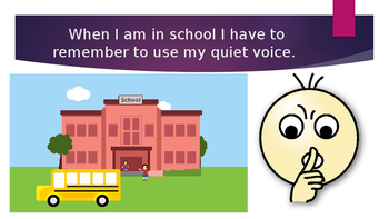 Social Stories on power point - Quiet Voice