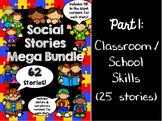 Social Stories Mega Bundle - PART 1 -- Speech therapy, Counseling, Autism, HFA