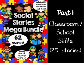 Social Stories Mega Bundle - PART 1 -- Speech therapy, Counseling, Autism, HFA
