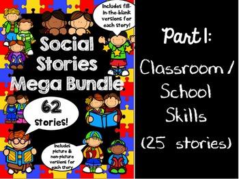 Social Stories Mega Bundle - PART 1 -- Speech therapy, Cou