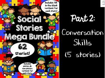 Social Stories Mega Bundle - PART 2 -- Speech therapy, Counseling, Autism, HFA