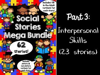 Social Stories Mega Bundle - PART 3 -- Speech therapy, Cou