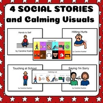 Social Stories Set: Visual Behavior Management Hands for Autism, Aspergers