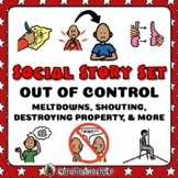 Social Stories Set for Meltdowns & Tantrums- Distance Learning
