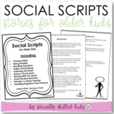 SOCIAL STORIES For Upper Elementary to Middle School {10 One Page Stories}