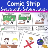 Social Skills Comic Strips for Social Stories Print & Go Speech Therapy