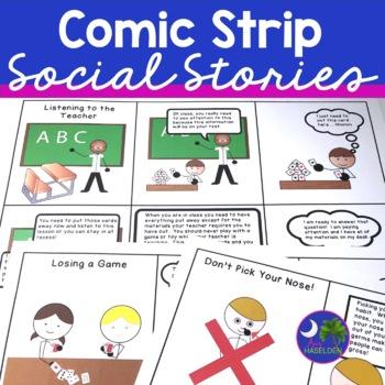 Social Skills Comic Strips for Social Stories No Prep Prin