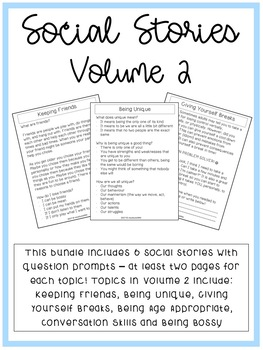 Print and Go Social Stories - Volume 2
