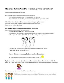 Social Stories: When the Teacher Teaches/When the Teacher Gives Directions