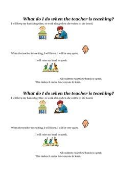 Social Stories: When the Teacher Teaches/When the Teacher