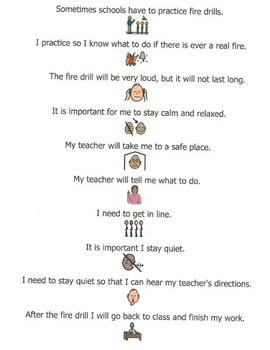 Social Stories for Autism or Special Needs: Fire Drill, Mad, Tired, Hallway