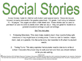 Social Stories for Autism or Special Needs: Following Dire