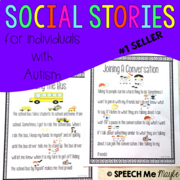 Social Stories for Children with Autism by Speech Me Maybe