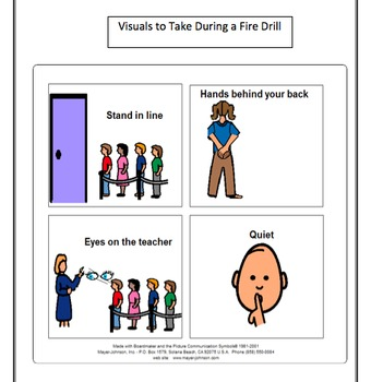 Social Stories for Students with Autism:  Fire Drills and Fire Alarms