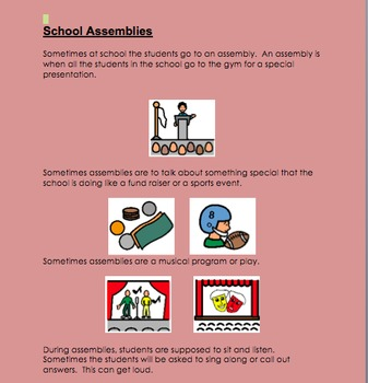 Social Stories for Students with Autism:  School Behaviors