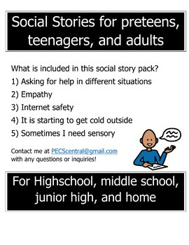 Social Stories for preteens, teenagers, and adults (volume 1)
