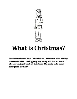Social Stories for students that don't understand what Christmas is all about