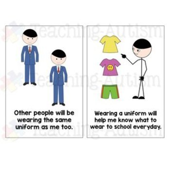 Social Story - A New School Uniform