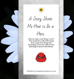 "A social story about how to research: ""A Story Shows Me How to Be a Hero"" PDF"