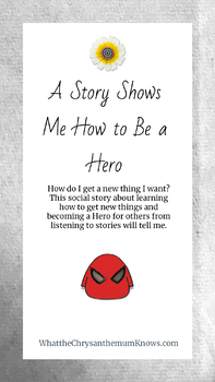 """Social Story: """"A Story Shows Me How to Be a Hero"""" Multimedia EPUB for eReaders"""