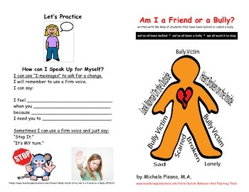 Am I a Friend or a Bully? A Social Story about Bullying