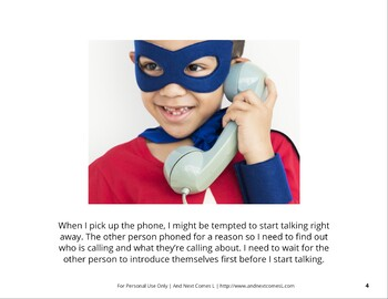 Social Story: Answering the Phone