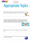 Social Story Appropriate Topics