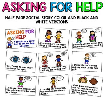 Social Story: Asking For Help
