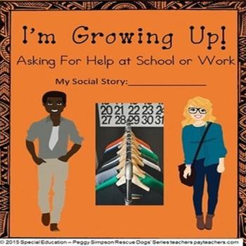 Social Story Life Skills Vocational CBI Asking For Help at