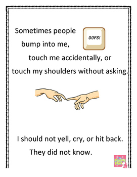 Social Story (Autism)  - When Someone Accidentally Bumps Me
