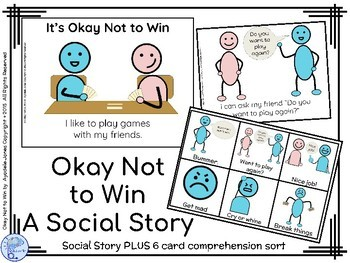 Social Stories- BUNDLE- 3 Books for Loud Noises, Not Winning & Staying On Topic