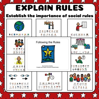Social Story Set for School Rules in the Classroom for Autism + Special Needs