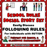 Social Story Set for School Rules in the Classroom: Autism Narratives