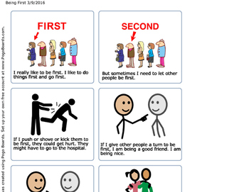 Social Story - Being First