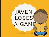 Social Story Book: Javen Loses a Game