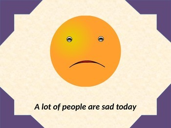 Social Story Booklet: A lot of people are sad today