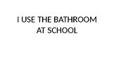 Social Story-Boys Bathroom