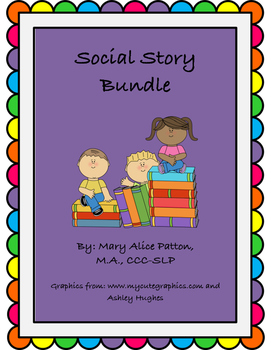 Social Narrative Bundle:4 stories (including Asking for Help, Conversations...)