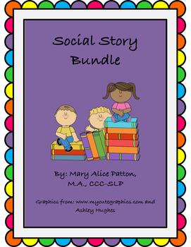 Social Narrative Bundle:4 stories (including Asking for He