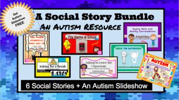 Social Story Bundle: An Autism Resource: 5 Social Stories + Autism Presentation