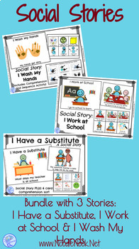 Social Story- Bundle- Three MORE Books for Autism Units, S