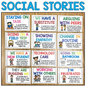Social Story Bundle Volume Two: 12 Social Stories Teaching Appropriate Behavior
