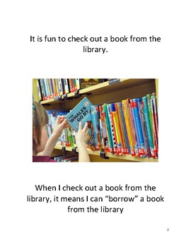 Social Story- Checking Out a Library Book