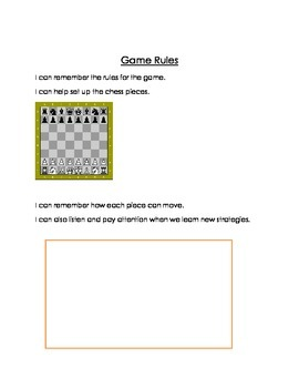 Social Story - Chess (or other games, fully editable)