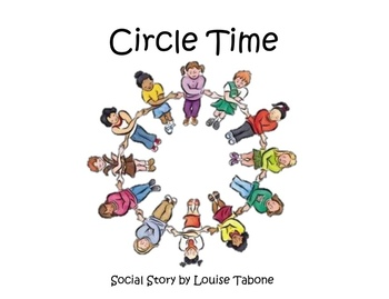 Social Story: Circle Time (in color, BW and white background)