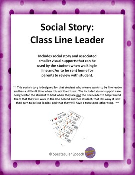 Social Story - Class Line Leader
