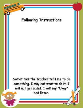 Social Story for Classroom Behavior